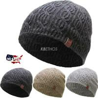 CLEARANCE SALE!! Short Soft Cable Knit Beanie Winter Ski Hat Skull Cap