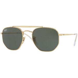 Ray-Ban Marshal Gold Metal Green Lens Sunglasses – RB3648 001 54/ RB3648001-54