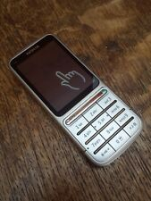 Nokia c3-01 celular en plata UMTS smartphone mobile phone swap dispositivo como nuevo #3