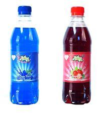 Twin pack de sucre libre 500ml Bleu Framboise & FRAISE alimentation slush sirop