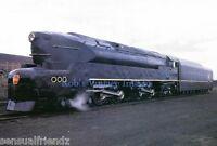 Pennsylvania Railroad T-1 Sharknose Steam Locomotive Train 6110 photo 1940s