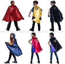 Superman Batman Robin Batgirl Supergirl Wonder Woman Child Superhero Capes Kids
