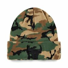 New Era NBA Chicago Bulls Camouflage Logo Limited Edition Beanie Fitted Hat