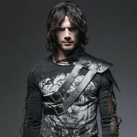 Punk Rave Men's Gothic Steampunk Cosplay Medieval Harness Shoulder Armor