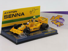 """Minichamps 540874311 # Lotus Honda 99T """" A. Senna Riding on S. Nakajima """" 1:43"""