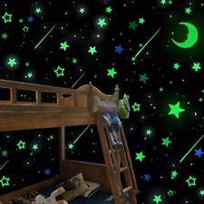 20 piezas LUMINOSO BRILLA EN La Oscuridad Estrellas Luna ADHESIVOS