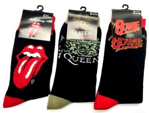 Queen Rolling Stones Bowie socks - Official merchandise Free postage UK company