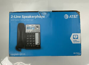 AT&T ML17929 2-Line Corded Telephone w/ Caller ID/Call Waiting, Black
