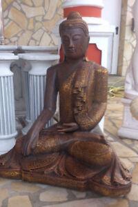 Statue Feng Shui, Skulptur, Buddha XXL, Steinbuddha 101cm Top Gartendekoration