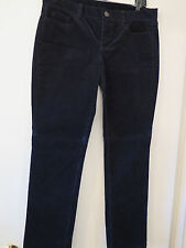 J Crew Matchstick Stretch Cords Pants City Fit 30 short Navy New with tags