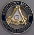 Kentucky Masons Helping Masons Square & Compass handshake Masonic Lapel Pin NEW!