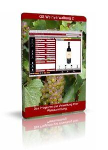 GS Wein-Verwaltung 2 - Software Programm zum Verwalten Ihrer Wein-Sammlung