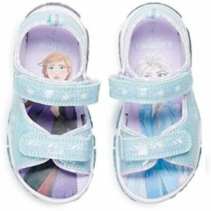 Disney's Frozen 2 Anna & Elsa Toddler Girls' Light Up Sandals 6 7 8 9 10 11 12