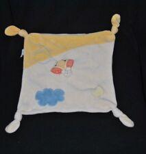 Peluche doudou abeille POP ART beige jaune nuage bleu 4 noeuds TTBE