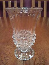 "Nice Cristal D'Arques France Longchamp Crystal 4 3/4"" Flower Vase Diamond Point"