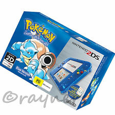 (Tatty Box) Nintendo 2DS Limited Edition Transparent Blue Console + Pokemon Blue