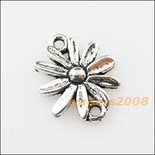 16 New Sun Flower Connectors Tibetan Silver Tone Charms Pendants 13x15.5mm