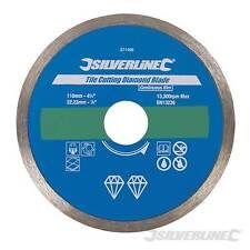 Tile Cutting Diamond Blade 110 x 22.23mm Continuous Rim Grinding Diamond Blades
