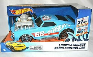 HOT WHEELS BLUE BOYS TOY TOYS LIGHTS & SOUNDS RADIO CONTROL CAR REMOTE NEW