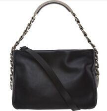MAISON MARTIN MARGIELA Chain-Handle Leather Shoulder Bag- Black -  £1500