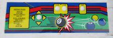 "8 BALL BILLARDS POOL  PLASTIC CONTROL PANEL OVERLAY  21 1/2- 6 3/4"" CF51"