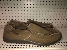Crocs Avast Mens Canvas Slip On Casual Loafers Moccasins Size 11 M Brown