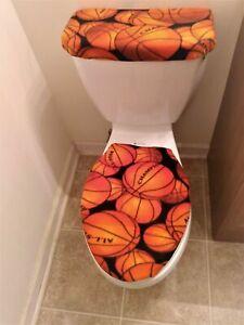 Basketball Fleece Toilet Lid & Tank Cover Set