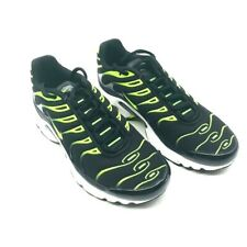 Nike Boys Air Max Plus GS Athletic Shoes Black Green 655020-086 Lace Up 4.5Y New