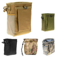 Molle System Hunting Magazine Dump Drop Pouch Recycle Waist Pack Ammo Bags  F9R4
