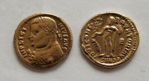 ROMAN ANCIAN COIN EMPEROR OCTAVIAN AUGUSTUS.GOLD!!27 BC-14 AC!MUSEUM REPRINT.