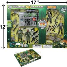 SOLDIER FIGURE FORCE ARTICULATED FIGURINE MACHINE GUN RIFLE TOY MILITARY ARMY