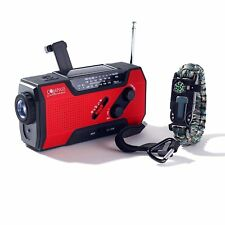 Solar + Hand Crank AM FM Radio Emergency NOAA Weather Radio + USB 2000mAh Pwr