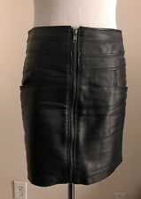 e6ad4187d Romeo & Juliet Couture Black Faux Leather Zipper Skirt w/Pockets - Small