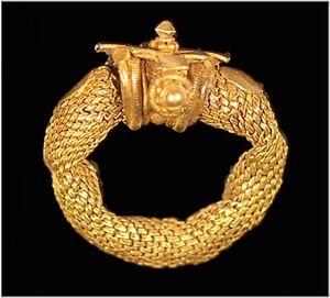 India gold hair ring Gupta Period, Gujarat