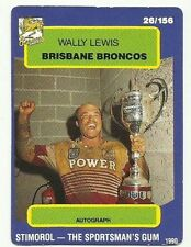 Wally Lewis Single NRL & Rugby League Trading Cards