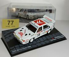 Citroën BX 4TC Rally Monte-Carlo 1986, #15 with Case, stand.