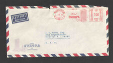 1960 DENMARK to USA COVER HOTEL EUROPA ADVERTISING COVER w/ NICE SLOGAN METER