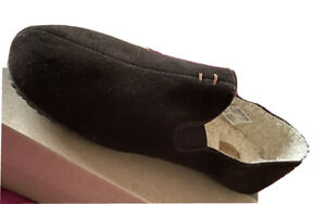 CLARKS KITE FALCON MENS BROWN SUEDE WARM LINED SLIPPERS UK SIZE 10 G EU 44.5