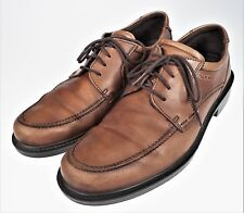 Mens 43 Ecco Fusion Oxford Lace Up Casual Loafer Comfort Shoes Brown Leather