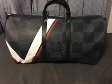 LOUIS VUITTON Keepall 55 Bandouliere Damier Cobalt Canvas America's CUP FRANCE