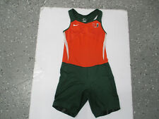 VINTAGE NIKE UM MIAMI HURRICANES WRESTLING LARGE SINGLET ONE-PIECE TEAM ISSUED