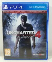 Uncharted 4: A Thief's End PlayStation 4 PS4 Game Near Mint Complete PAL UK