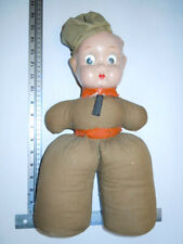 Vintage Antique Googly Eye Army WAC Nurse Cloth Doll with Composition Head