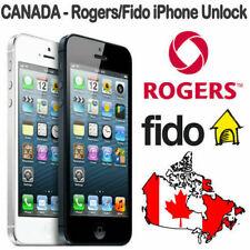 ROGERS FIDO IPHONE FACTORY UNLOCK SERVICE 4s 5 5c 5s 6 6s 6+ 6s+ SE 7 7+ 8 8+