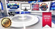 SMART IPTV plus de 3000 channels abonnement 12 mois -box android-smart tv-M3U...