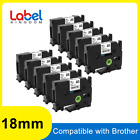 10 TZe-241 TZ241 Label Tape 18mm White Compatible Brother P-Touch PT-D600 1890C