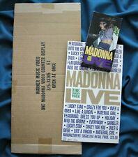 MADONNA VIRGIN TOUR PROMO COUNTER STAND DISPLAY & BOX 1985 WARNER RARE