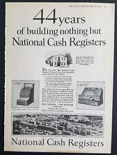 1926 National cash register Dayton Ohio 44 years vintage ad