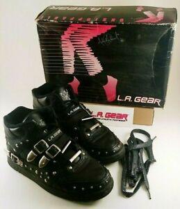 90s BLACK LA Gear Michael Jackson BILLIE JEAN Sneakers Women's Size 4US