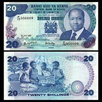 Kenya 20 Shillings, 1987, P-21f, banknote,Original,UNC